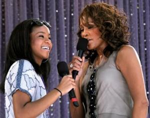 Bobbi Kristina Brown with her mother Whitney Houston